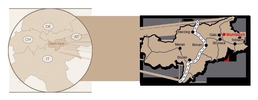 skizze-en-come-arrivare-albergo-huber-anreise-gasthof-muehlbach-directions-guesthouse-south-tyrol